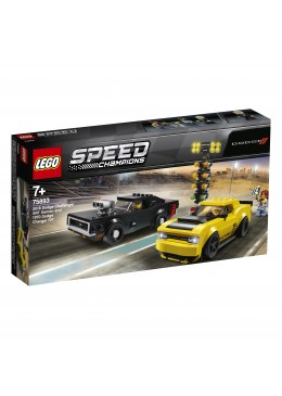 LEGO Speed Champions 2018 Dodge Challenger SRT Demon e 1970 Dodge Charger R T - 75893