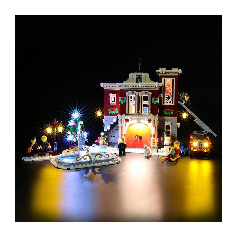 LED Kit Creator Winter village Fire station 10263 - Briksmax
