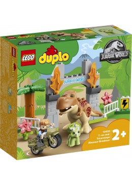LEGO DUPLO T. rex and Triceratops Dinosaur Breakout - 10939